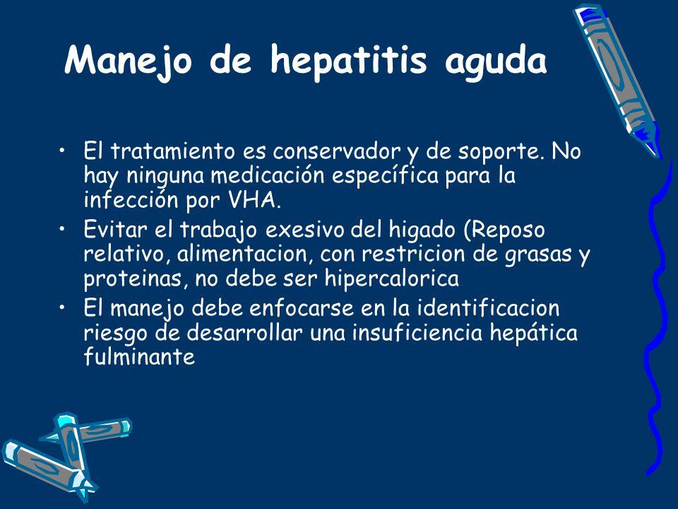Manejo de hepatitis aguda