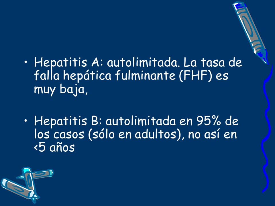 Hepatitis A: autolimitada