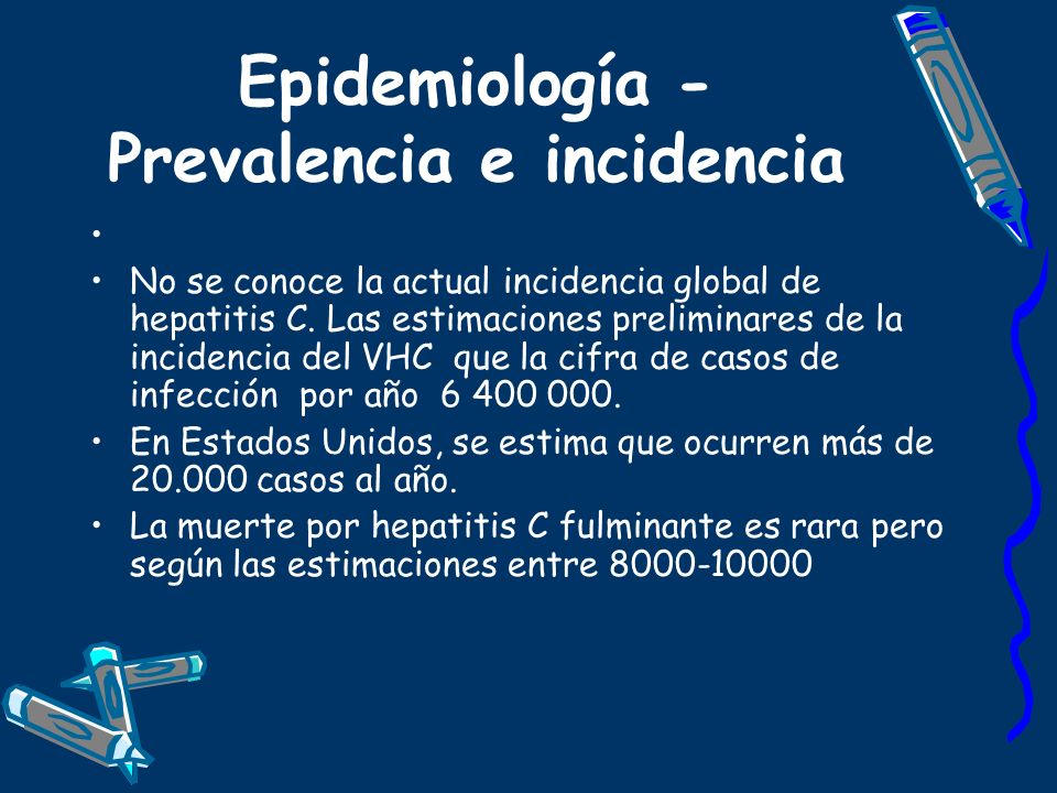 Epidemiología - Prevalencia e incidencia