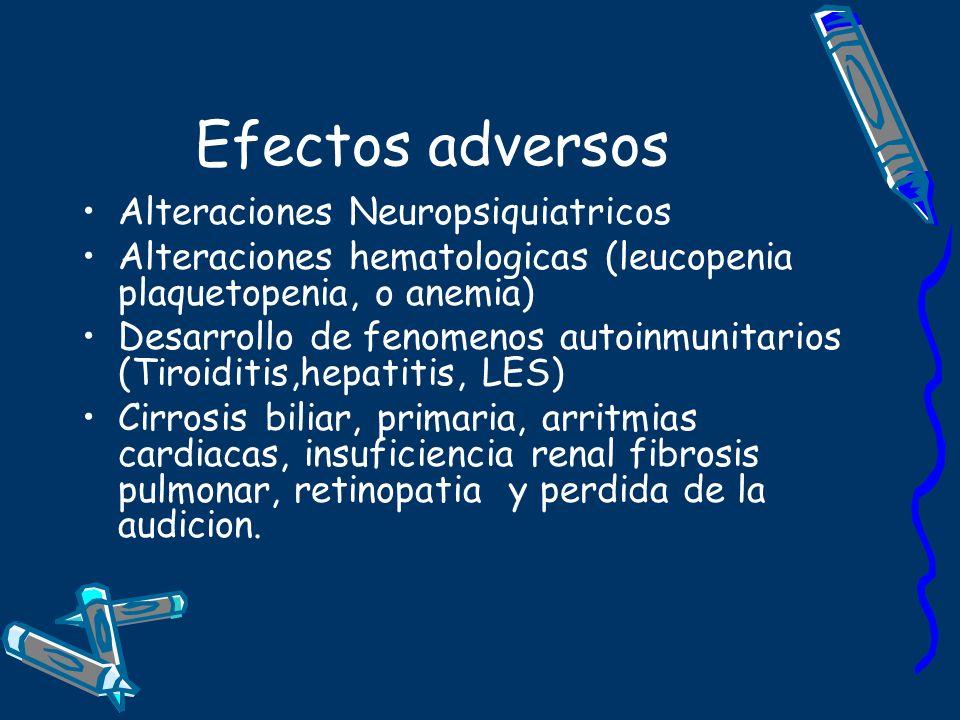 Efectos adversos Alteraciones Neuropsiquiatricos