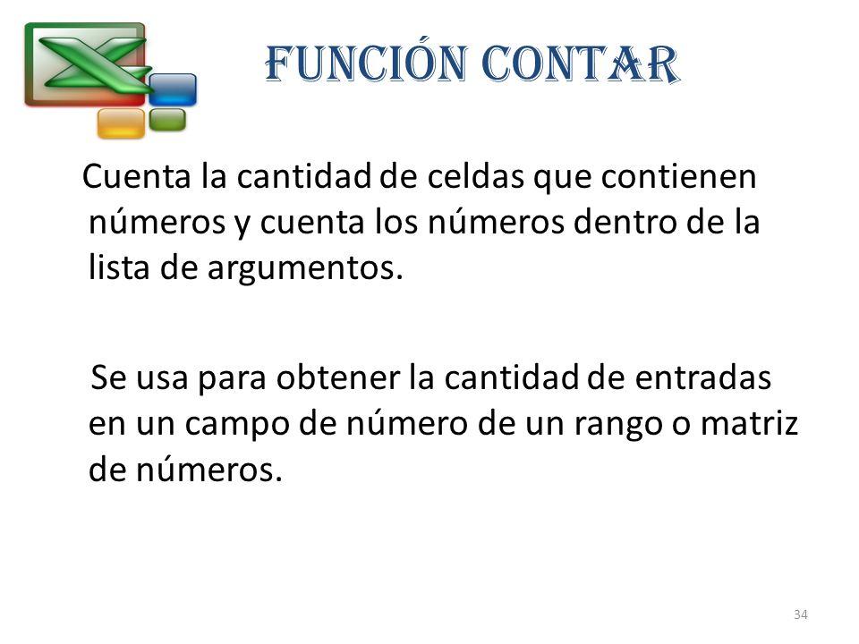 FUNCIÓN CONTAR