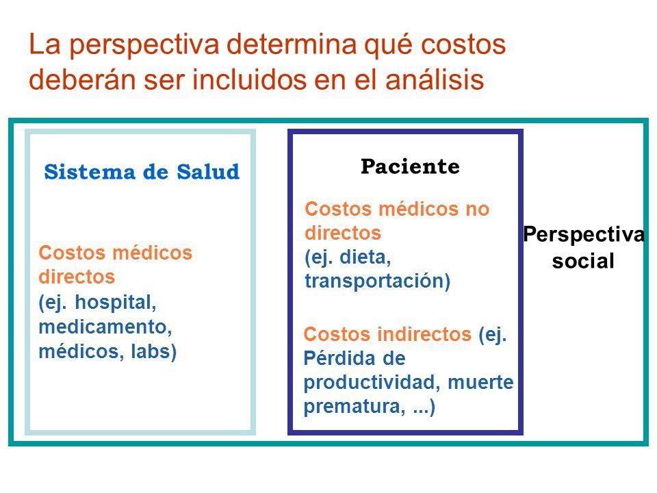 La perspectiva determina qué costos deberán ser incluidos en el análisis