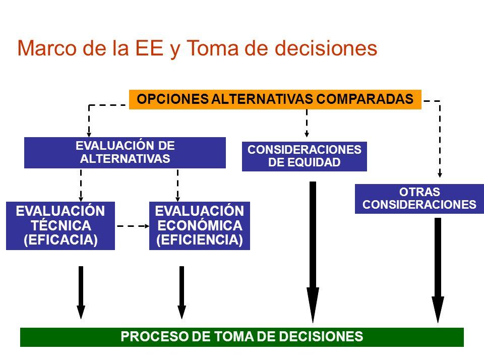 Marco de la EE y Toma de decisiones