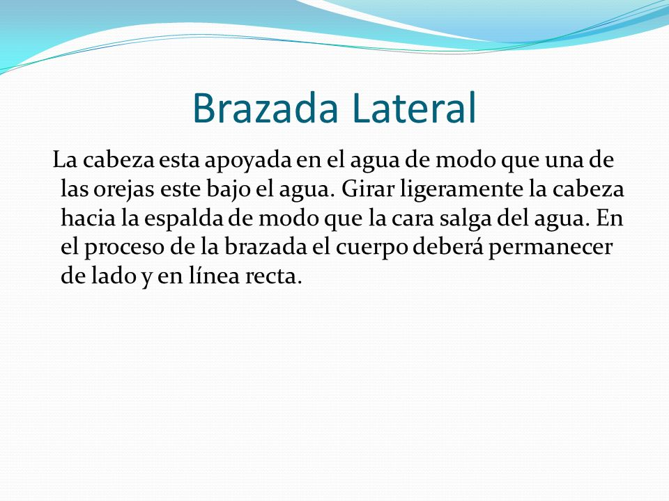 Brazada Lateral
