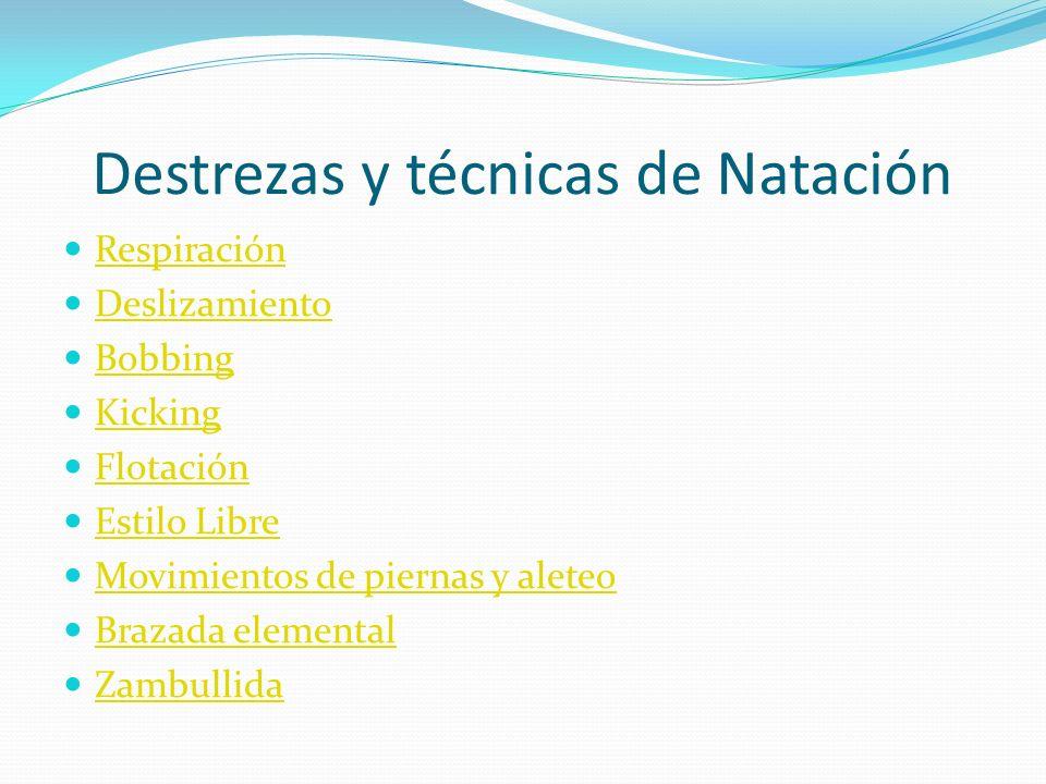 Destrezas y técnicas de Natación