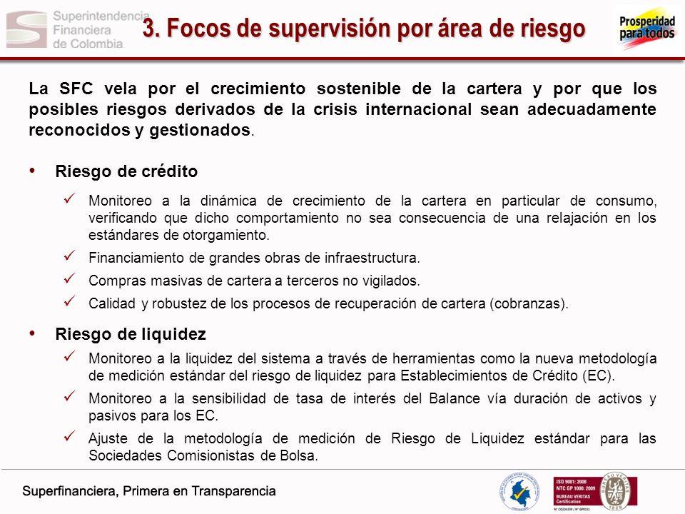 3. Focos de supervisión por área de riesgo