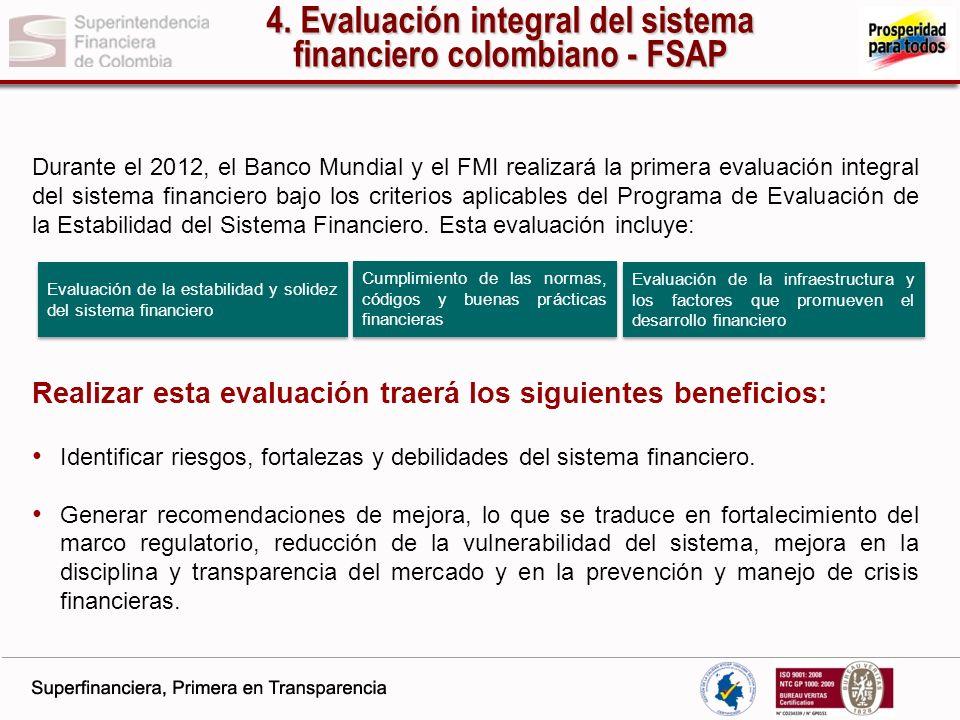 4. Evaluación integral del sistema financiero colombiano - FSAP