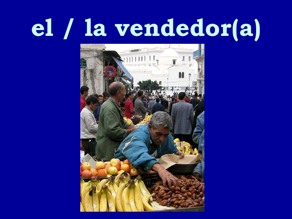 el / la vendedor(a)