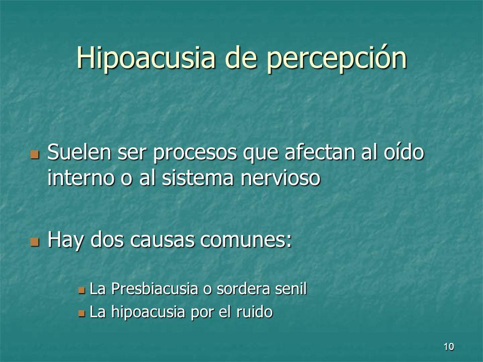 Hipoacusia de percepción