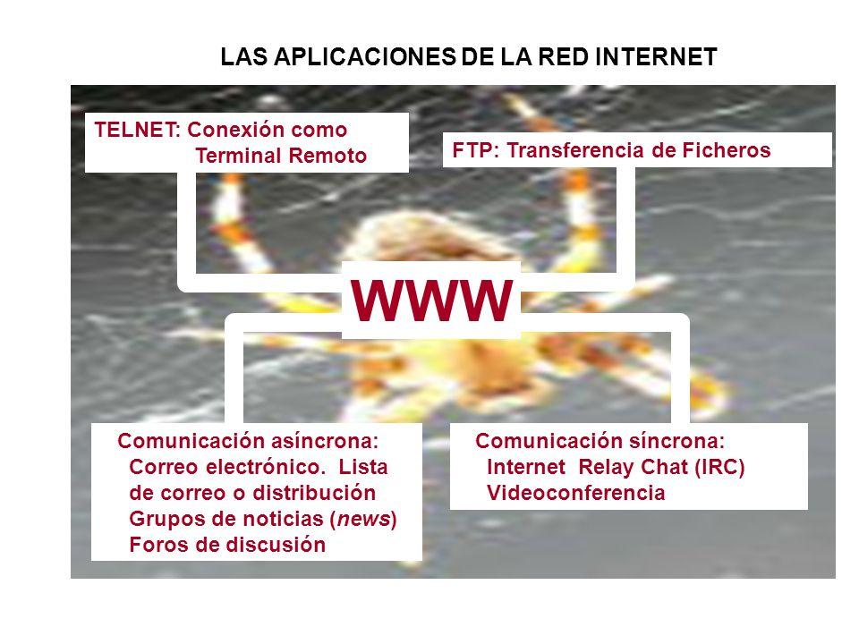 LAS APLICACIONES DE LA RED INTERNET
