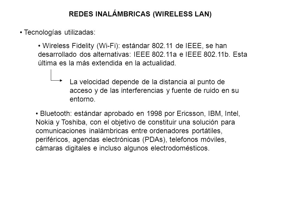 REDES INALÁMBRICAS (WIRELESS LAN)