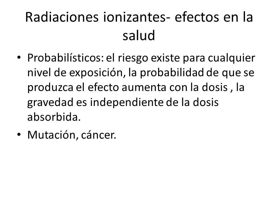 Radiaciones ionizantes- efectos en la salud