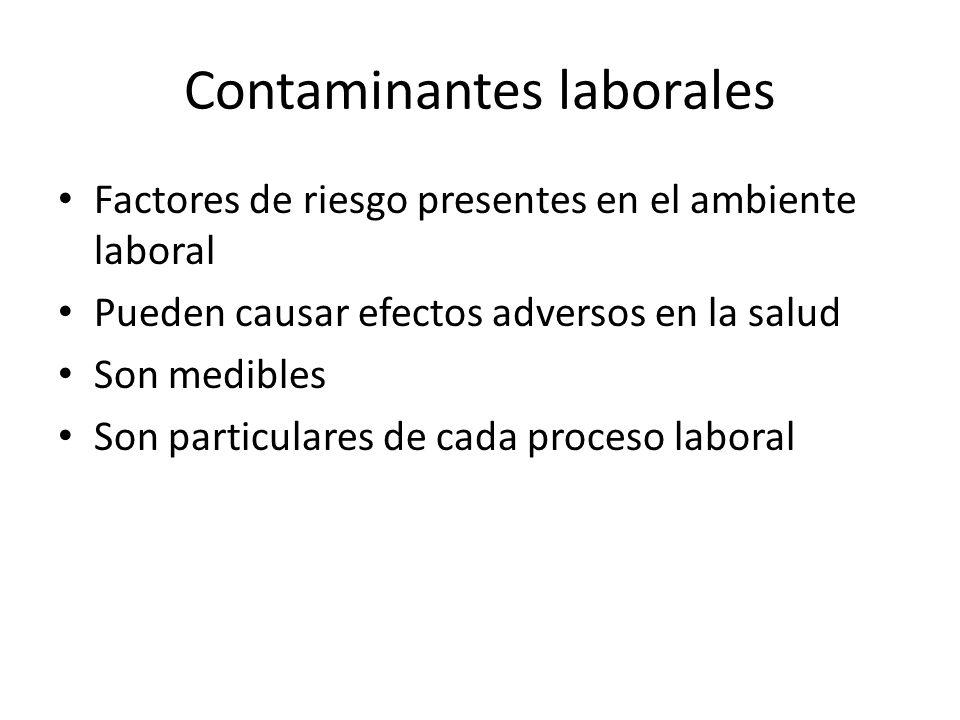 Contaminantes laborales