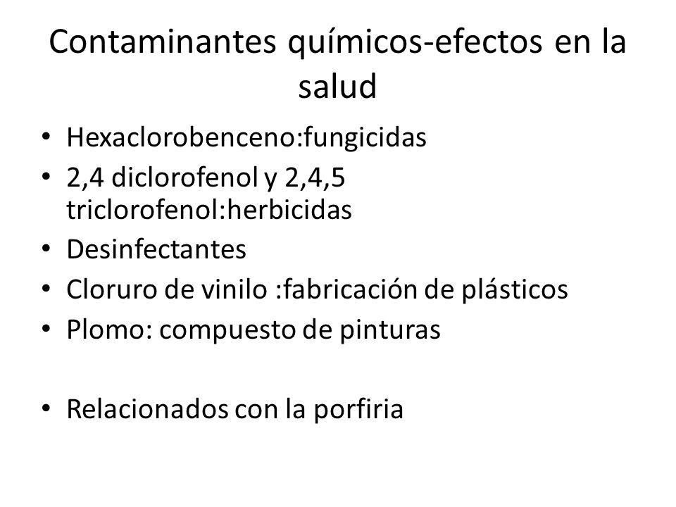Contaminantes químicos-efectos en la salud