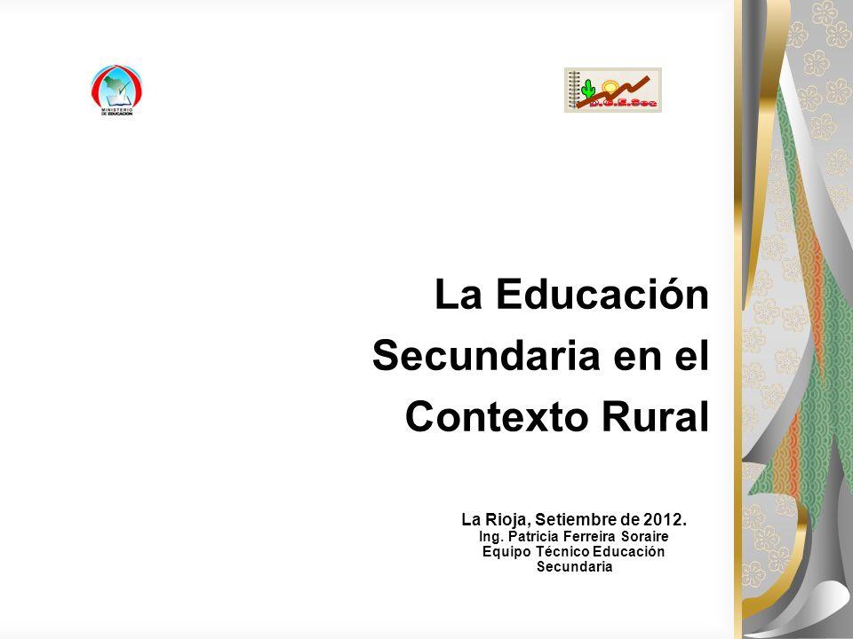 La Educación Secundaria en el Contexto Rural