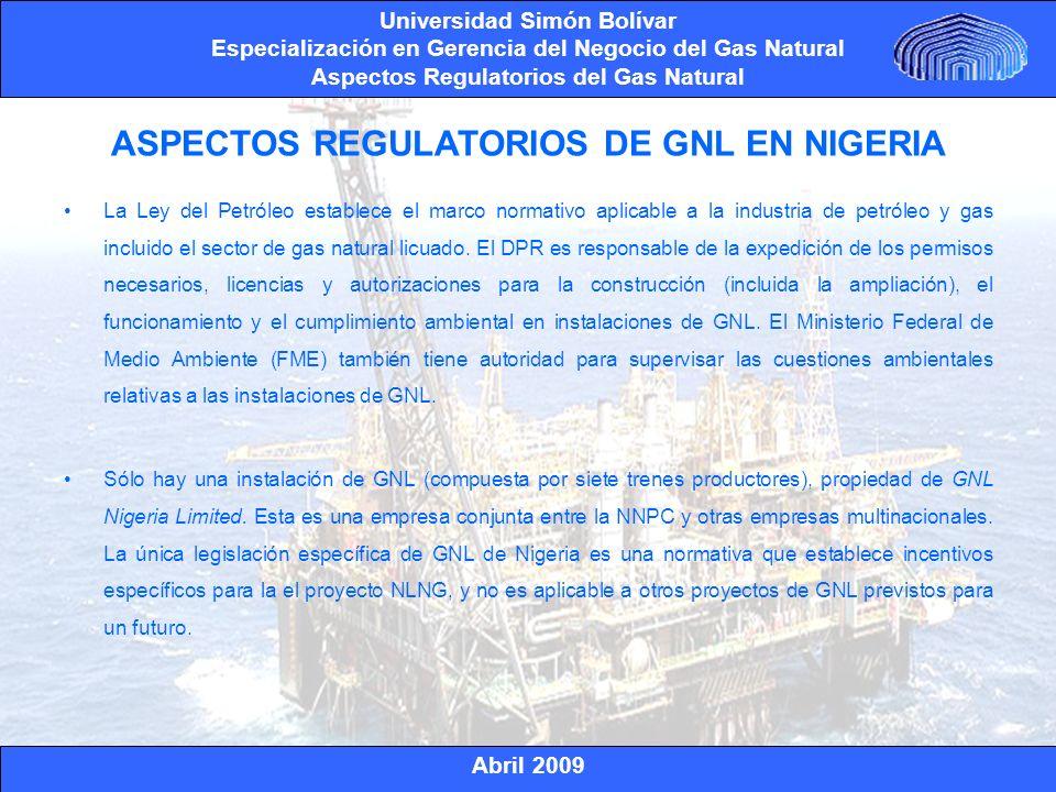 ASPECTOS REGULATORIOS DE GNL EN NIGERIA