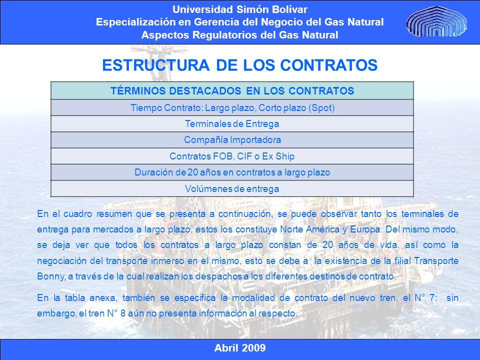 ESTRUCTURA DE LOS CONTRATOS TÉRMINOS DESTACADOS EN LOS CONTRATOS