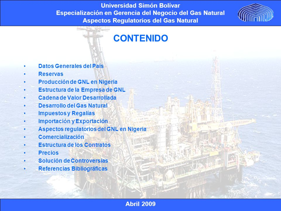 CONTENIDO Datos Generales del País Reservas