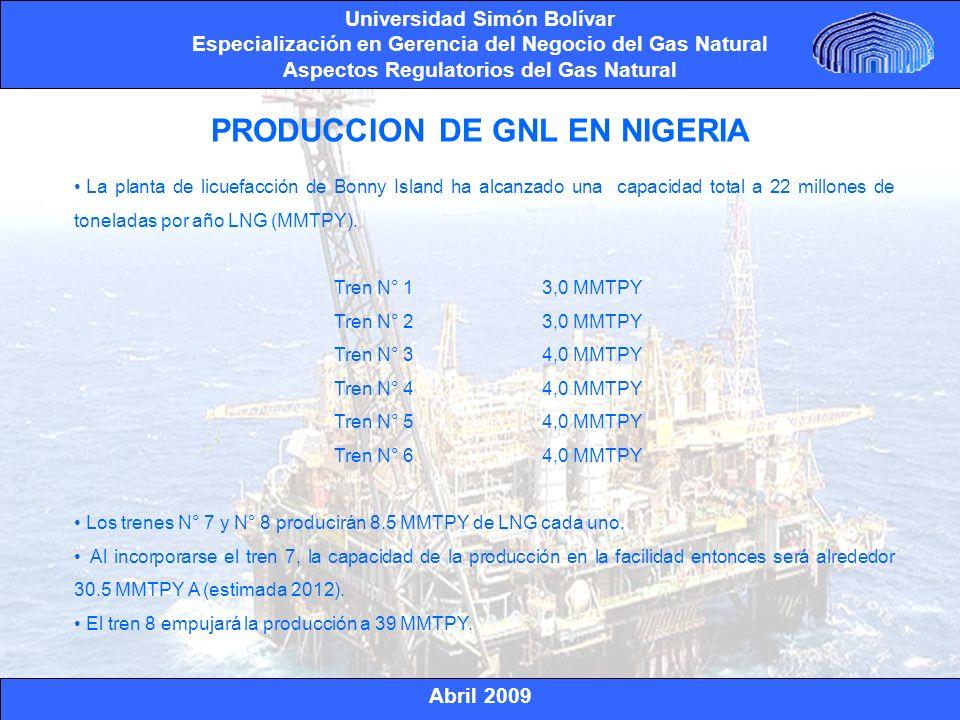 PRODUCCION DE GNL EN NIGERIA