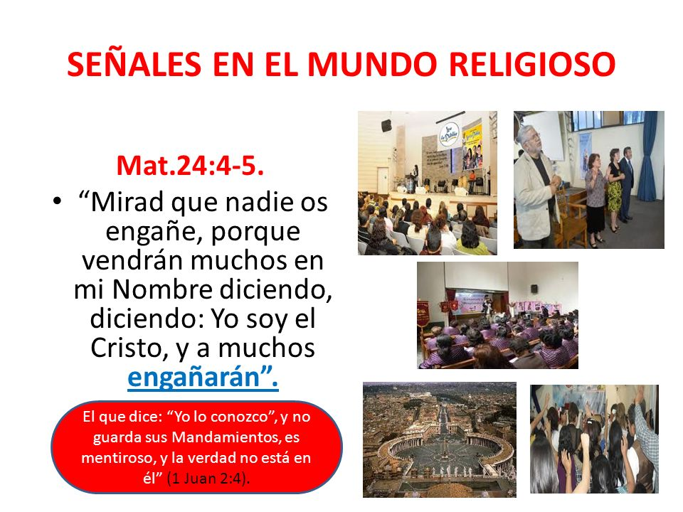 SEÑALES EN EL MUNDO RELIGIOSO