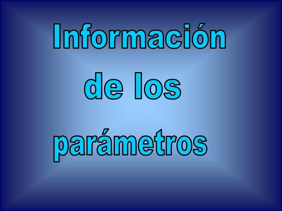 Información de los parámetros