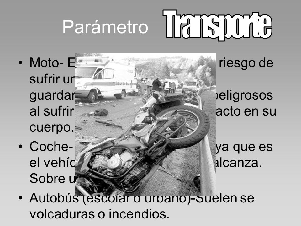 Parámetro Transporte.