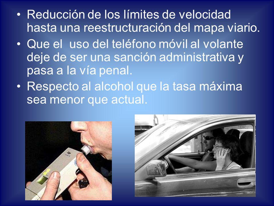 Reducción de los límites de velocidad hasta una reestructuración del mapa viario.