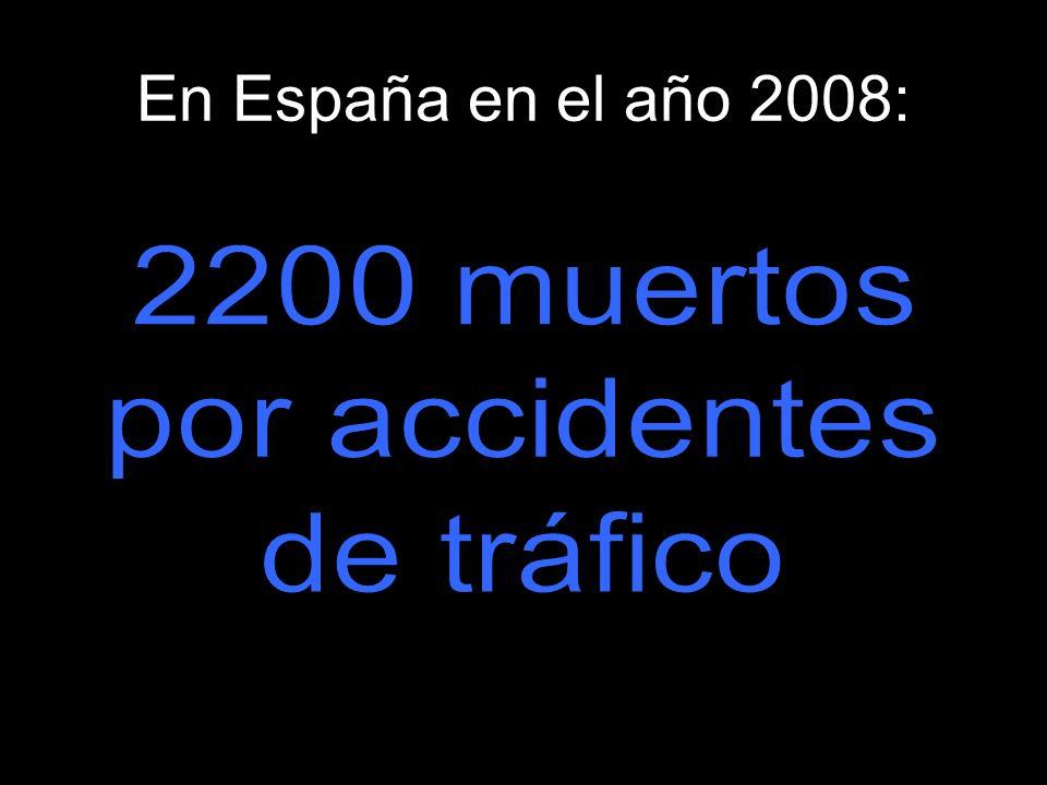 En España en el año 2008: 2200 muertos por accidentes de tráfico