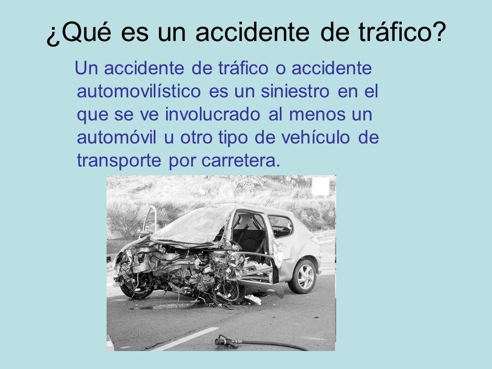 ¿Qué es un accidente de tráfico