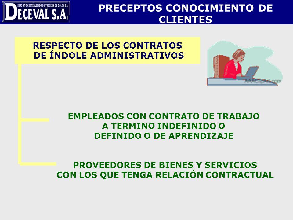 PRECEPTOS CONOCIMIENTO DE CLIENTES