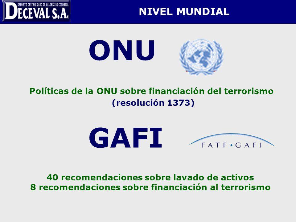 ONU GAFI NIVEL MUNDIAL (resolución 1373)