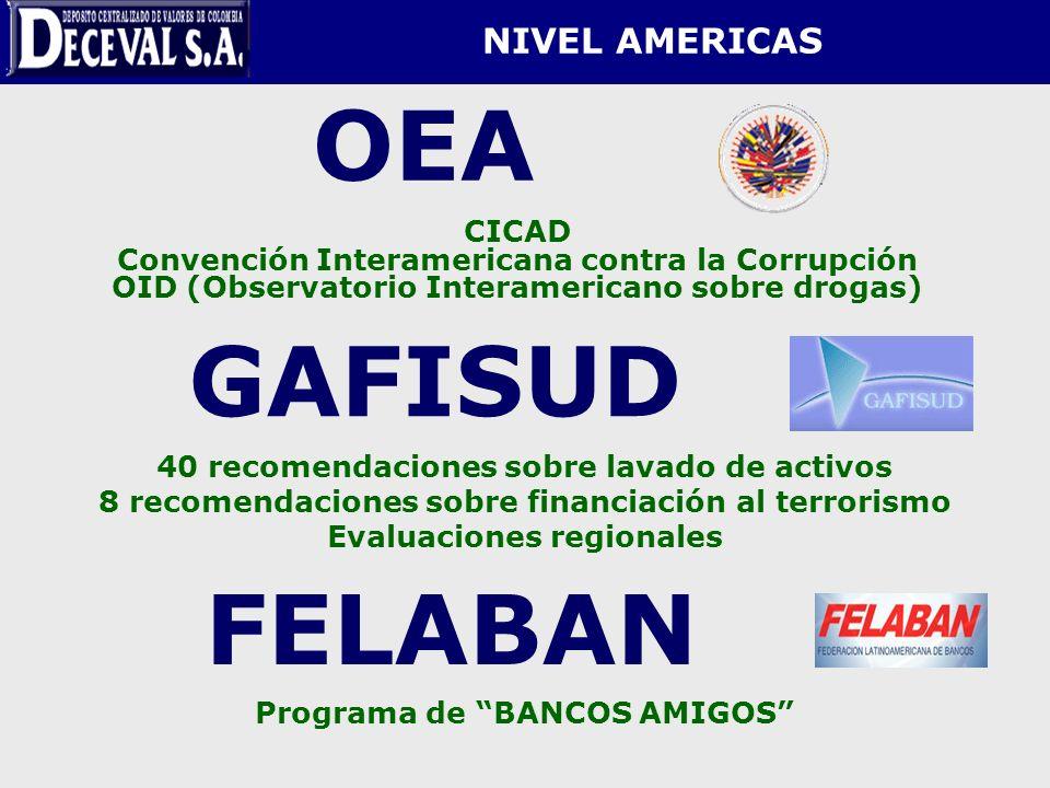 OEA GAFISUD FELABAN NIVEL AMERICAS CICAD