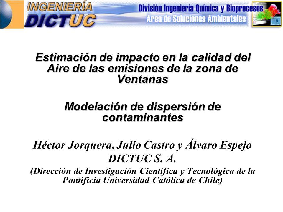 Modelación de dispersión de contaminantes