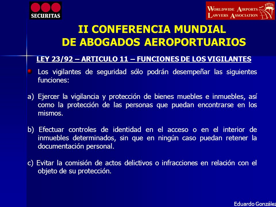 II CONFERENCIA MUNDIAL DE ABOGADOS AEROPORTUARIOS