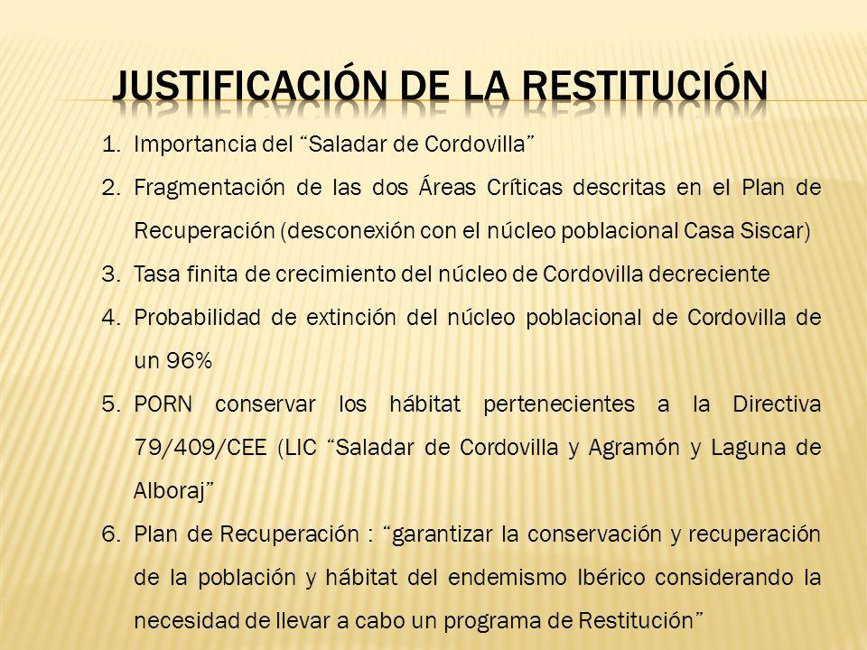 JUSTIFICACIÓN DE LA RESTITUCIÓN