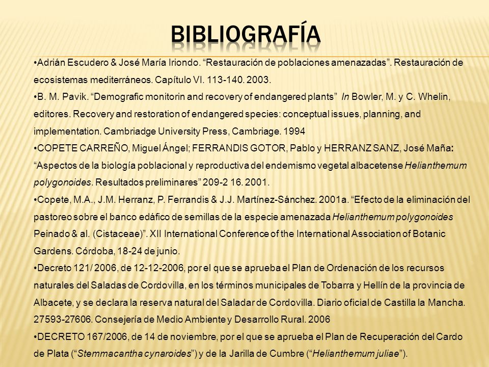 bibliografía