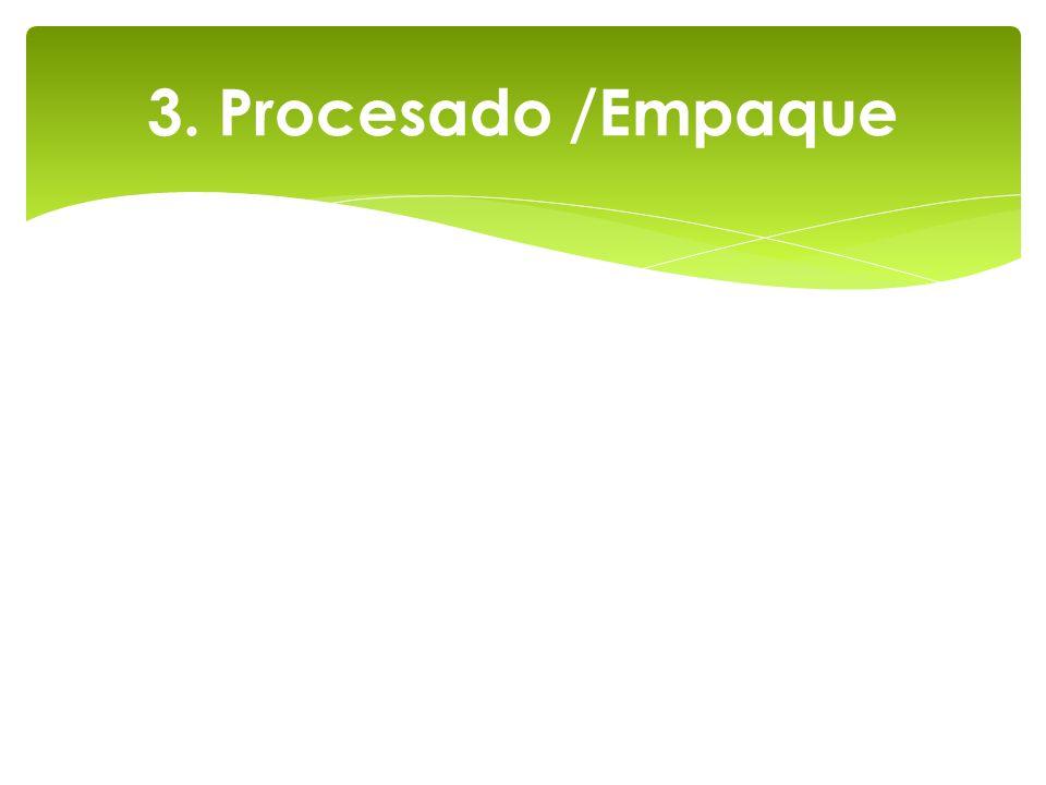 3. Procesado /Empaque
