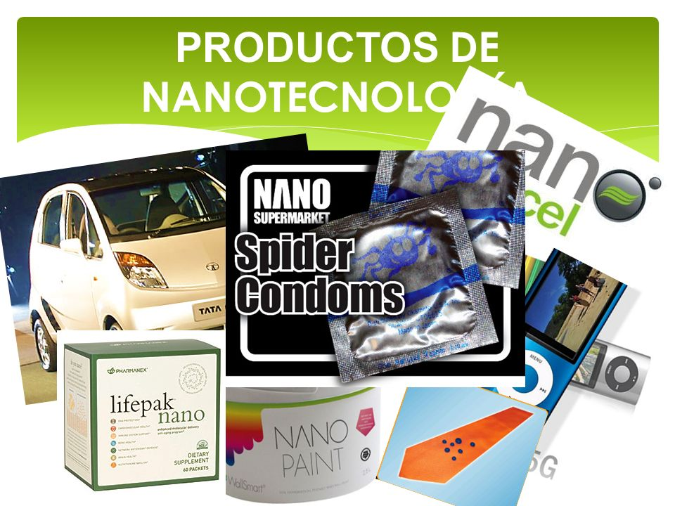 PRODUCTOS DE NANOTECNOLOGÍA