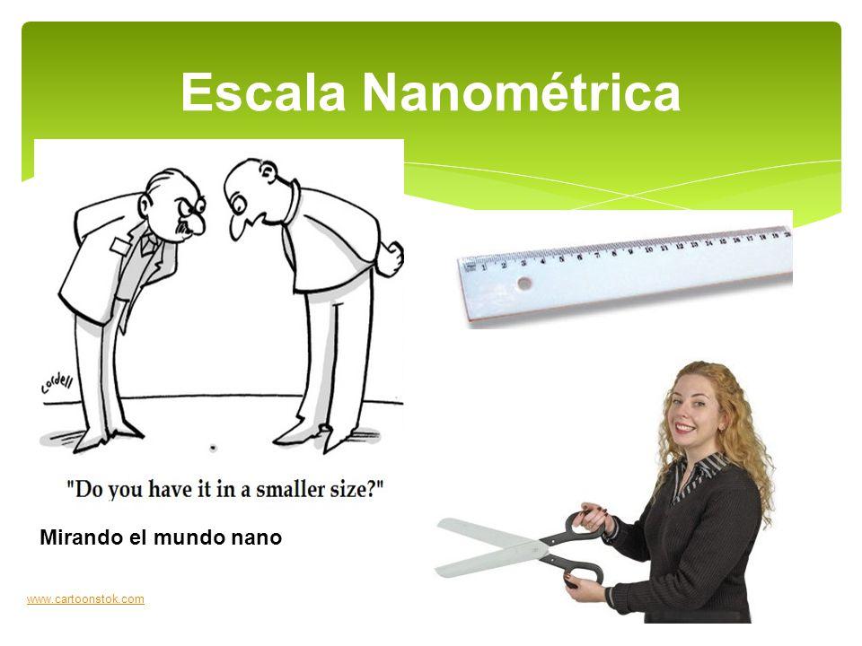 Escala Nanométrica Mirando el mundo nano www.cartoonstok.com