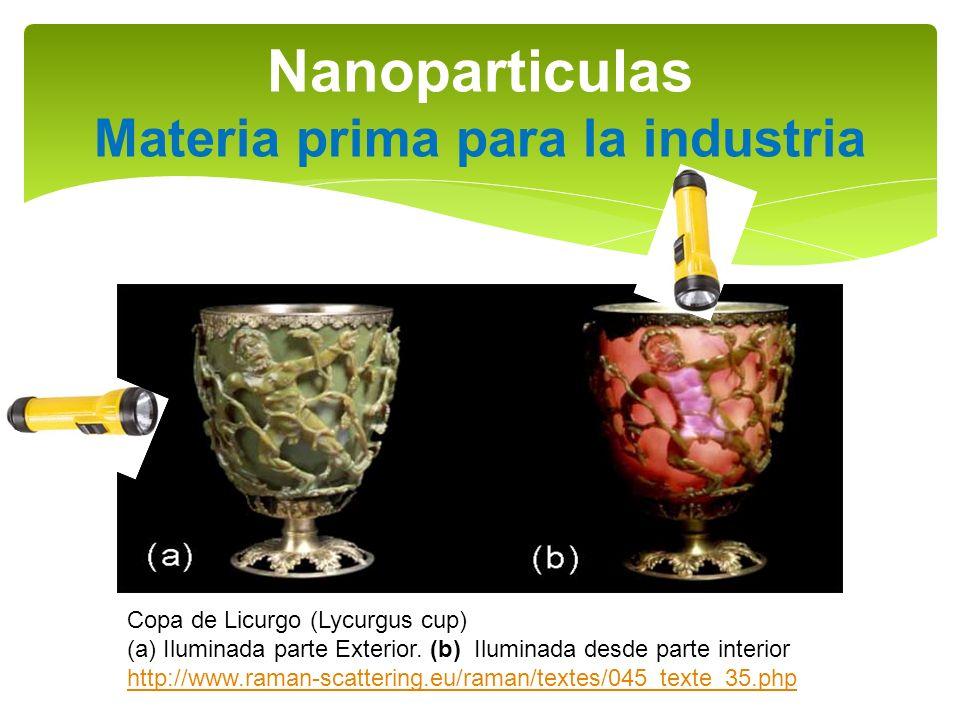 Nanoparticulas Materia prima para la industria
