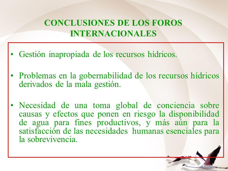 CONCLUSIONES DE LOS FOROS INTERNACIONALES