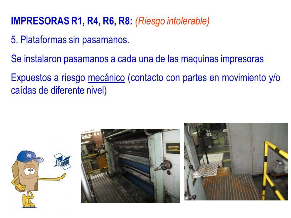 IMPRESORAS R1, R4, R6, R8: (Riesgo intolerable)