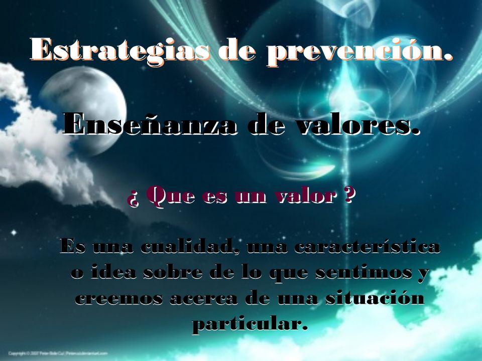 Estrategias de prevención.