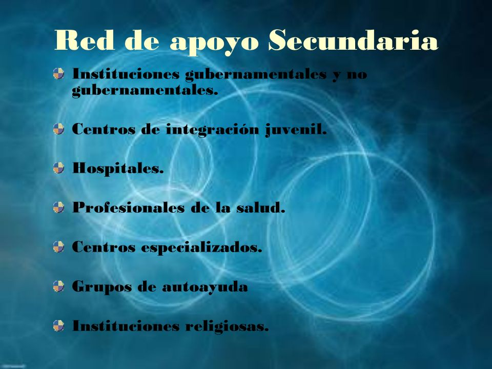 Red de apoyo Secundaria