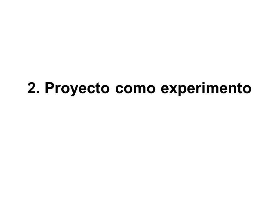2. Proyecto como experimento