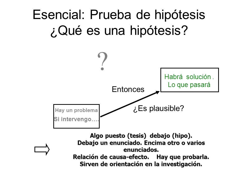 Esencial: Prueba de hipótesis ¿Qué es una hipótesis