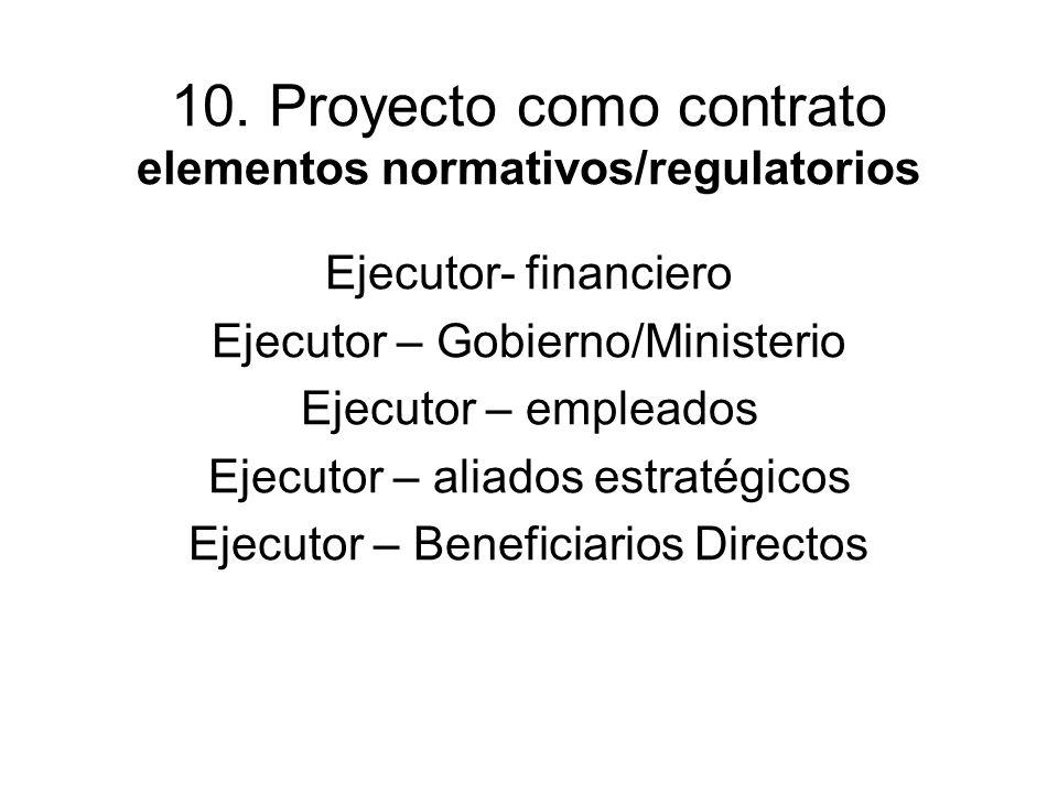 10. Proyecto como contrato elementos normativos/regulatorios