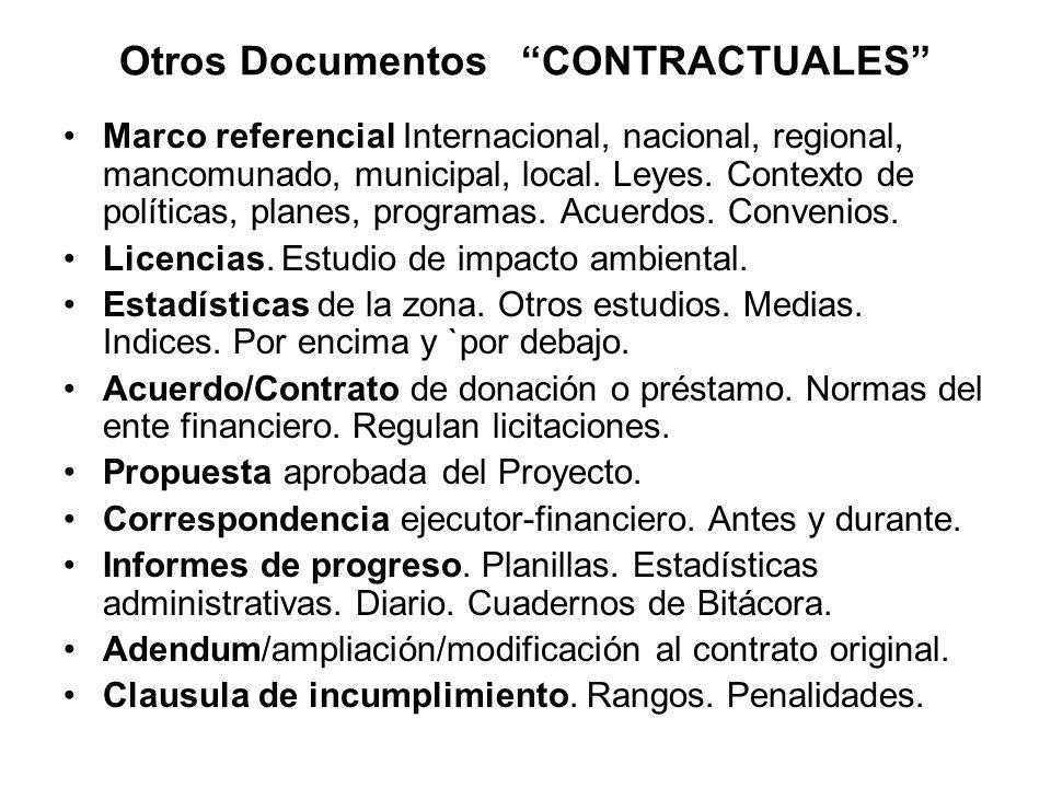 Otros Documentos CONTRACTUALES