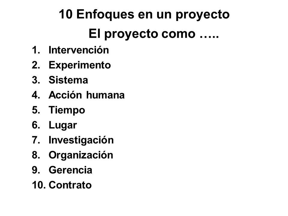 10 Enfoques en un proyecto