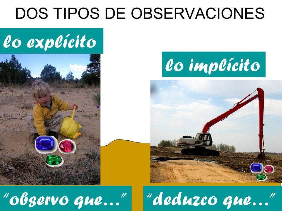 DOS TIPOS DE OBSERVACIONES